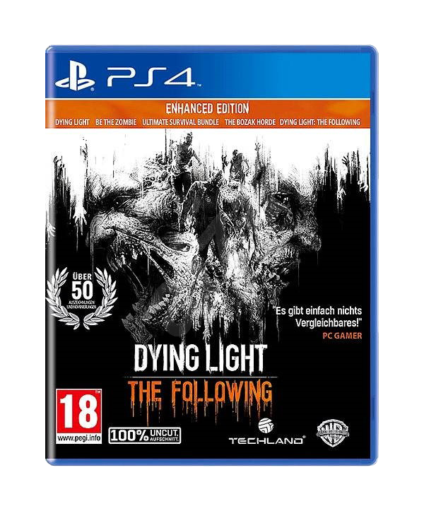 Dying Light: The Following - Enhanced Edition PS4 (Hauptspiel + AddOn + 3 Bonus-DLCs) (EU PEGI) (deutsch) [uncut]